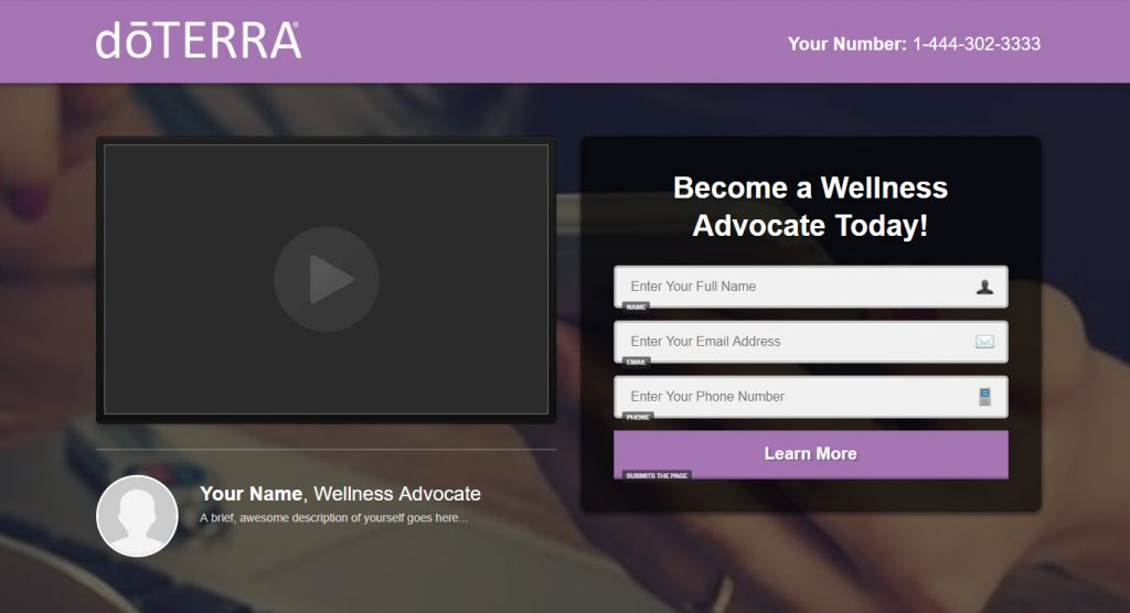 doterra-landing-page-example